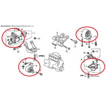 04 Calço Coxim Motor Câmbio Civic 2001 2002 2003 2004 2005