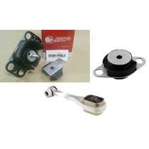 Kit 03 Calço Coxim Motor Câmbio Renault Clio 1.6 99 Até 2012