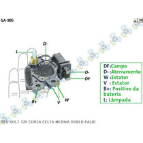 Regulador Voltagem Gm Corsa Pick Up 1.6 94/... - Gauss