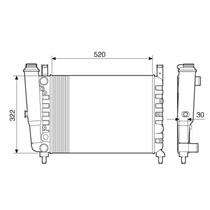 Radiador Fiat Uno/fiorino/premio 1.5 87 A 93 C/s Ar C/vaso