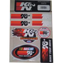 Kit 8 Adesivos Original K&n K N Kn Ken Filtro Esportivo