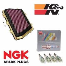 Kit Filtro De Ar K&n + Velas De Iridium Ngk Honda Cbr 1000rr