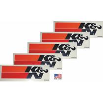 5 Adesivos K&n Kn Ken Filters Original Americano Importado