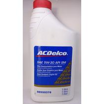 Oleo 5w 30 Api Sm - Acdelco - Semi-sintético Original Gm