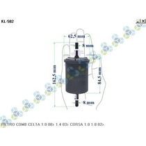 Filtro Combustivel Celta 1.0 00/... 1.4 03/... Corsa 1.0 1.8