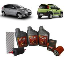 Selenia K Pure Energy 5w30 Filtros Fiat Novo Uno 1.0 Palio