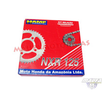Kit Relação Transmissão Original Honda (hamp) Nxr 125 Bros