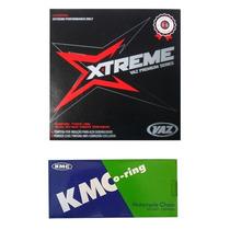 Kit Relação C/ Retentor Aço 1045 Yamaha Xt 600 Vaz + Kmc