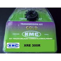 Kit Tração Xre 300 Kmc Aço 1045 Kit Relação Kmc Xre300 1045