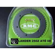 Relação Xtz Lander 250 Até 2008 Kit Tração Kmc Aço 1045