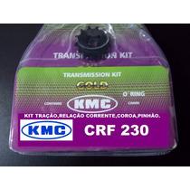 Kit Relação Transmissão Crf 230 Kit Tração C/retentor