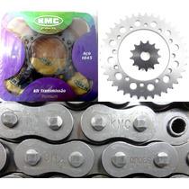 Kit Relacao Tenere 600 Kmc Gold Aço 1045 Corrente Retentor