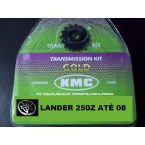Kit Relação Lander Xtz 250 Até 2008 Kit Tração Kmc Aço 1045