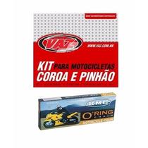 Kit Relação C/ Retentor Aço 1045 Titan 125 00/08 Vaz + Kmc