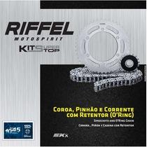 Kit Relação Riffel Yamaha Fazer 600 Fz6 Com Corrente Ek
