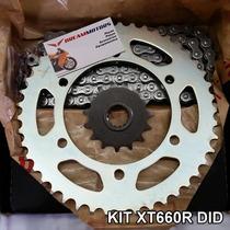 Kit Relacao Did Yamaha Xt660 Xt 660 R Pinhao Coroa Corrente