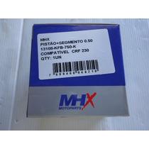 Pistao Com Aneis Crf 230 0,50mm Kit Completo Mhx Com Nota
