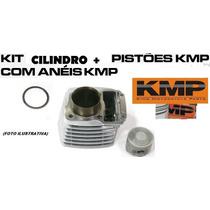 Kit Kmp C/ Cilindro. Pistao E Anel Kmp Shineray 70cc - Traxx