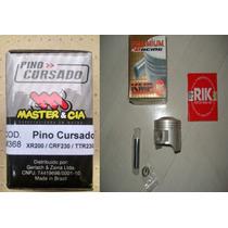 Kit Pistao Taxado + Pino Cursado 2mm Crf 230 Nx Cbx Xr 200