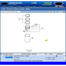 Camisa Pistão Anéis Motor Mwm 6cc 607t F250 Sprint Silverado