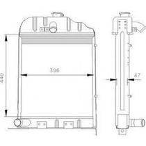 Radiador Novo Trator Massey Ferguson 50x/65x