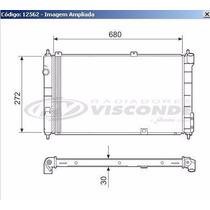 12562 Radiador D Agua Corsa 1.0/1.4/1.6 16v Mpfi 94/02 Tigra