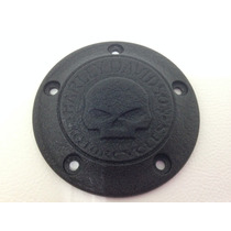 Harley Davidson Do Timer Cover Skull Wrinkle Black - Novo