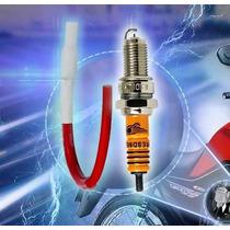 Kit Ignição Vela Iridium+cabo De Vela Cg125-150 Fan, Crf230