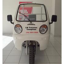 Triciclo Carga Carroceria Mca 200,2015, Branco Motor 200cc.