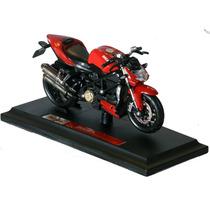 Miniatura Moto Ducati Vermelha 1/18