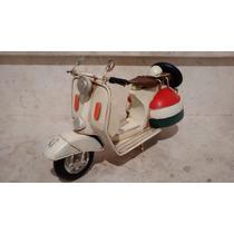 Miniatura Lata Moto Vespa Lambreta Retro Para-lama Redondo