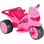 Moto Elétrica Infantil Tr1002sb Pink Star 6v-4ah 20w
