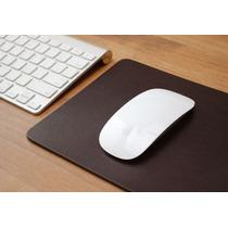 Mousepad Em Couro Legítimo Cor Café Chique Escritório Casa