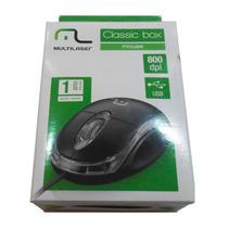 Mouse Optico Usb Classic Box Preto Mo179 - Multilaser
