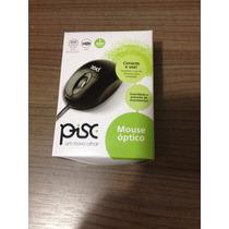 Mouse Óptico Usb Pisc Preto Na Caixa 800 Dpi