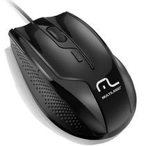 Mouse Gamer Black Óptico 1600dpi Multimídia 6 Botões