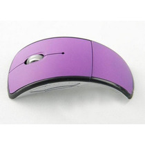 Mini Mouse Sem Fio Dobrável Wireless 2.4ghz - Roxo