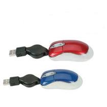 Mini Mouse Cabo Retratil Usb 800 Dpi Notebook Pc Óptico