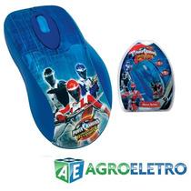 Mouse Óptico Usb Disney Power Rangers - Clone 06233 Novo Nf
