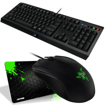 Kit Mouse Razer Abyssus 2014 + Teclado Cyclosa + Mousepad