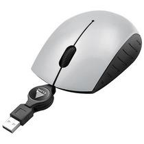 Mini Mouse Óptico Usb 3 Botões 800 Cpi Cinza Metalizado