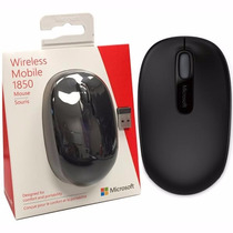 Mouse Óptico Microsoft 1850 Sem Fio Preto - U7z-00008