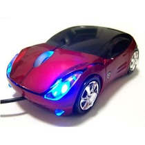 Mouse Cars Ferrari Ótico Usb 1000cpi 4 Leds Pc E Notebook