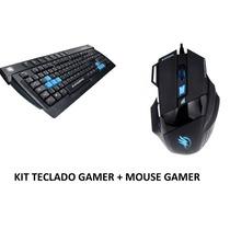 Kit Gamer Teclado Multimídia Abnt2 E Mouse 2400 Dpi Fortrek