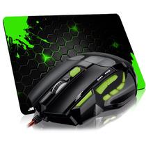 Mouse Gamer Multilaser Óptico Firemouse 2400dpi + Mousepad