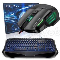 Kit Gamer Multilaser Mouse + Teclado Iluminado + Mouse Pad
