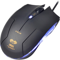Mouse Gamer Óptico Usb 1600dpi Cobra Type-m Preto E-blue