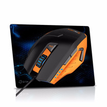 Mouse Gamer Destroyer + Mouse Pad- Macro/ 3200 Dpi/ 9 Botões