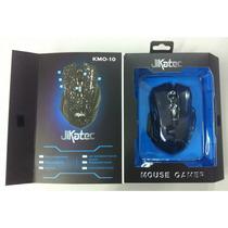 Mouse Gamer Jikatec Kmo-10 3200dpi 6 Botões Azul