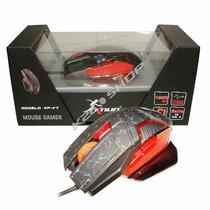 Mouse Gamer Knup Kp-v7 Usb Base Metálica 1600 Dpi 6 Botões